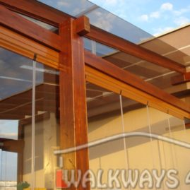 Glazed terraces. Tempered glass roofing