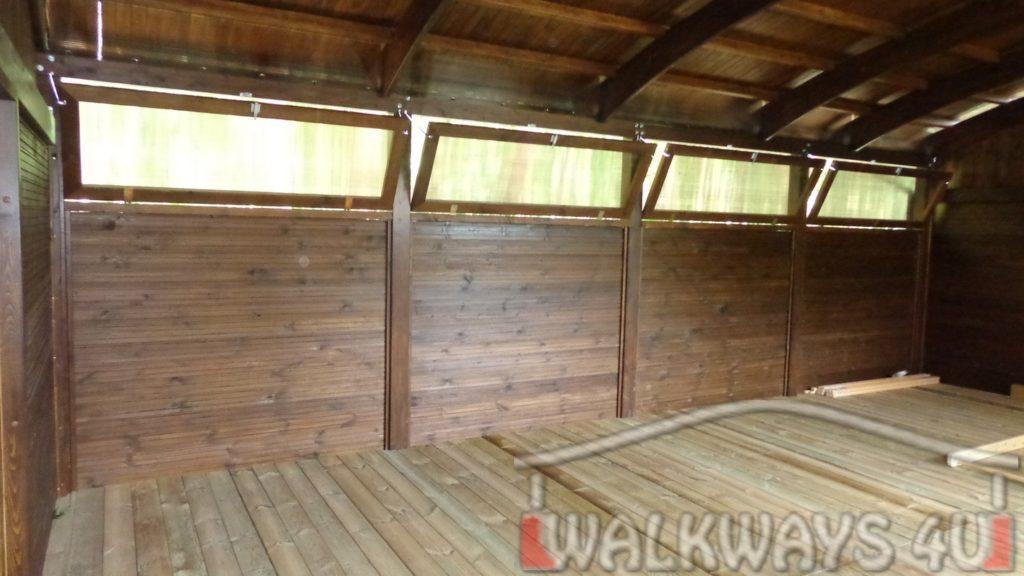 gymnase priv? toitures fermetures en bois