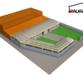 Hale wystawowe drewniane konstrukcje ?uki klejone zadaszenia Walkways4U.com