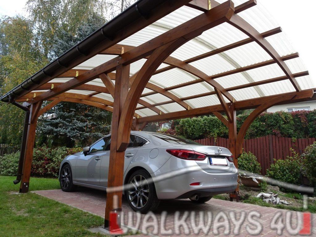 Carporty z drewna dostawa i monta? indywidualne projekty wiaty gara?owe z drewna klejonego. Carporty na kilka samochod?w wiaty drewniane na zam?wienie