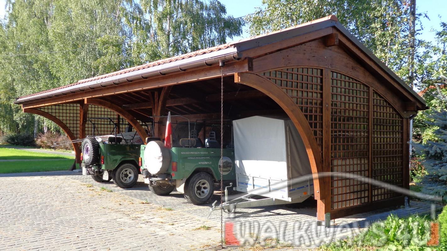 konstrukcje z drewna klejonego, szklana zabudowa tarasy gara?e, carports, drewniane gara?e, baseny,