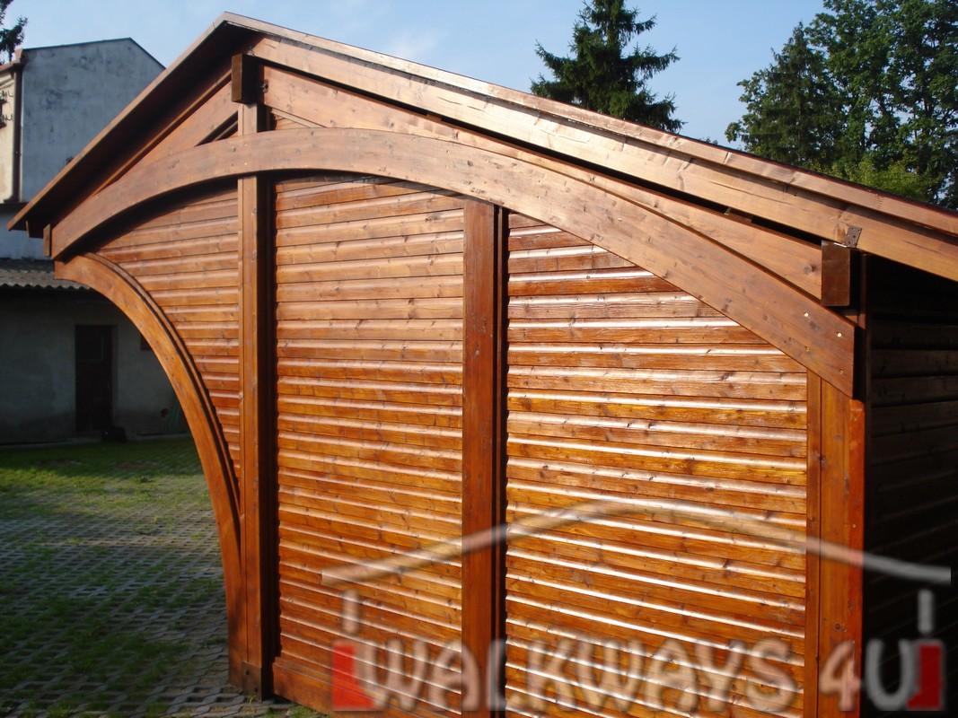 Drewniane wiaty gara?owe, carporty ogrodowe, drewno klejone impregnowane, zabudowa taras?w i gara?y