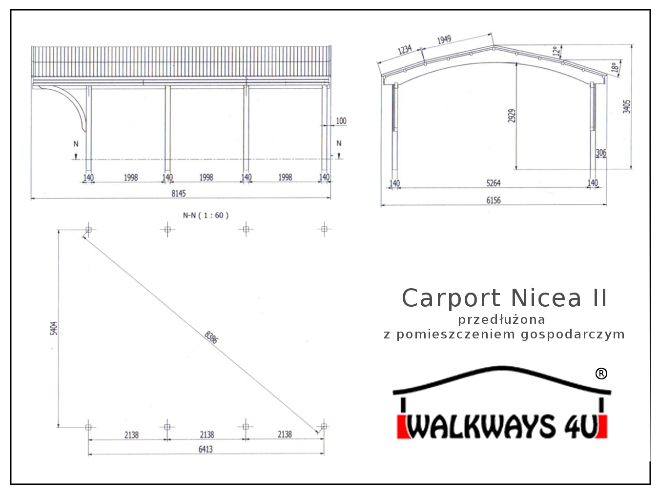 Gara? drewniany z pomieszczeniem gospodarczym projekt pdf dostawa i monta?