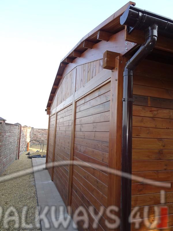 Drewniane pomieszczenie gospodarcze wiata narz?dziowa ogrodowa