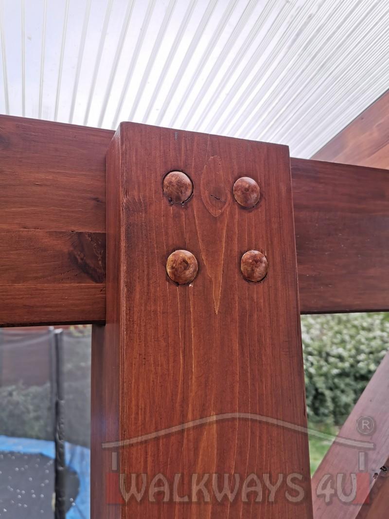 Photo 26. Zadaszenia taras?w, werandy drewniane, konstrukcje z drewna klejonego, drewniane tarasy pergole, wiaty