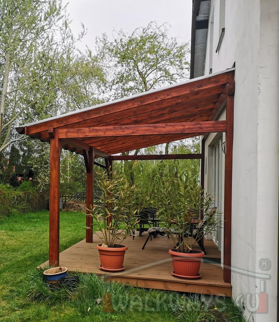 Photo 25. Zadaszenia taras?w, werandy drewniane, konstrukcje z drewna klejonego, drewniane tarasy pergole, wiaty