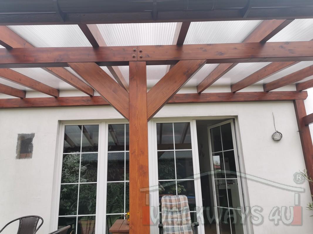 Photo 23. Zadaszenia taras?w, werandy drewniane, konstrukcje z drewna klejonego, drewniane tarasy pergole, wiaty
