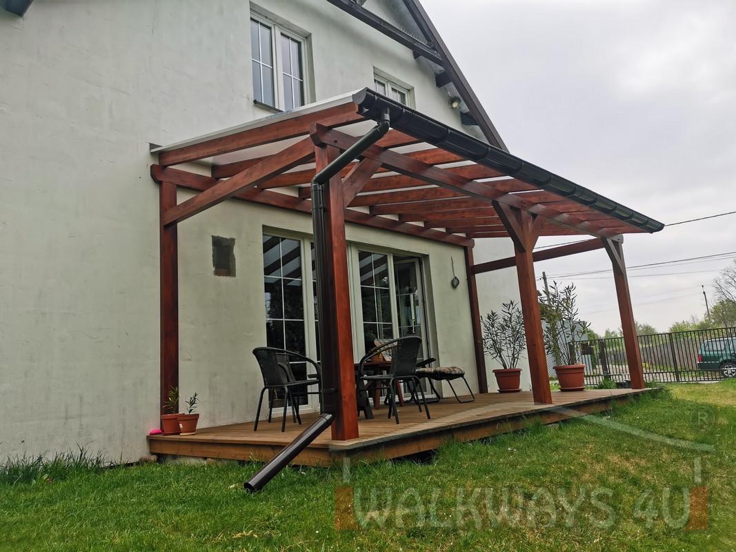 Photo 22. Zadaszenia taras?w, werandy drewniane, konstrukcje z drewna klejonego, drewniane tarasy pergole, wiaty