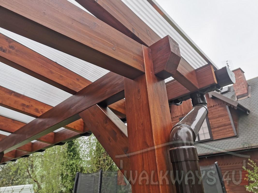 Photo 20. Zadaszenia taras?w, werandy drewniane, konstrukcje z drewna klejonego, drewniane tarasy pergole, wiaty