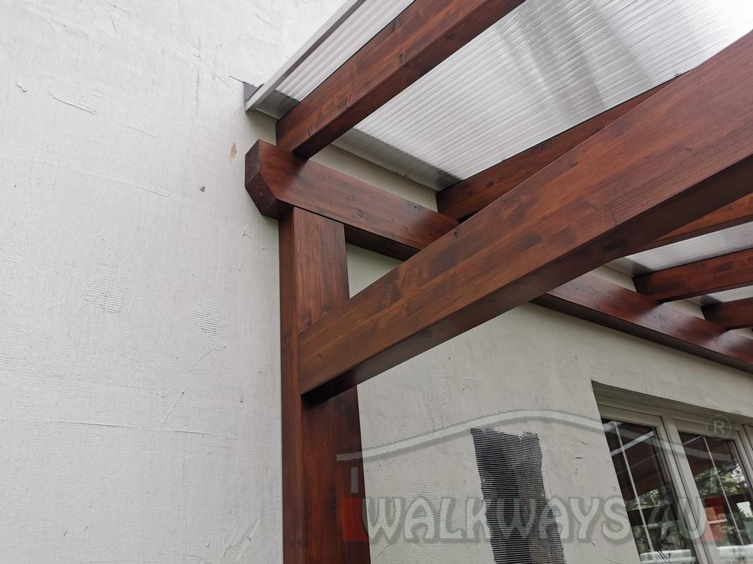 Photo 19. Zadaszenia taras?w, werandy drewniane, konstrukcje z drewna klejonego, drewniane tarasy pergole, wiaty