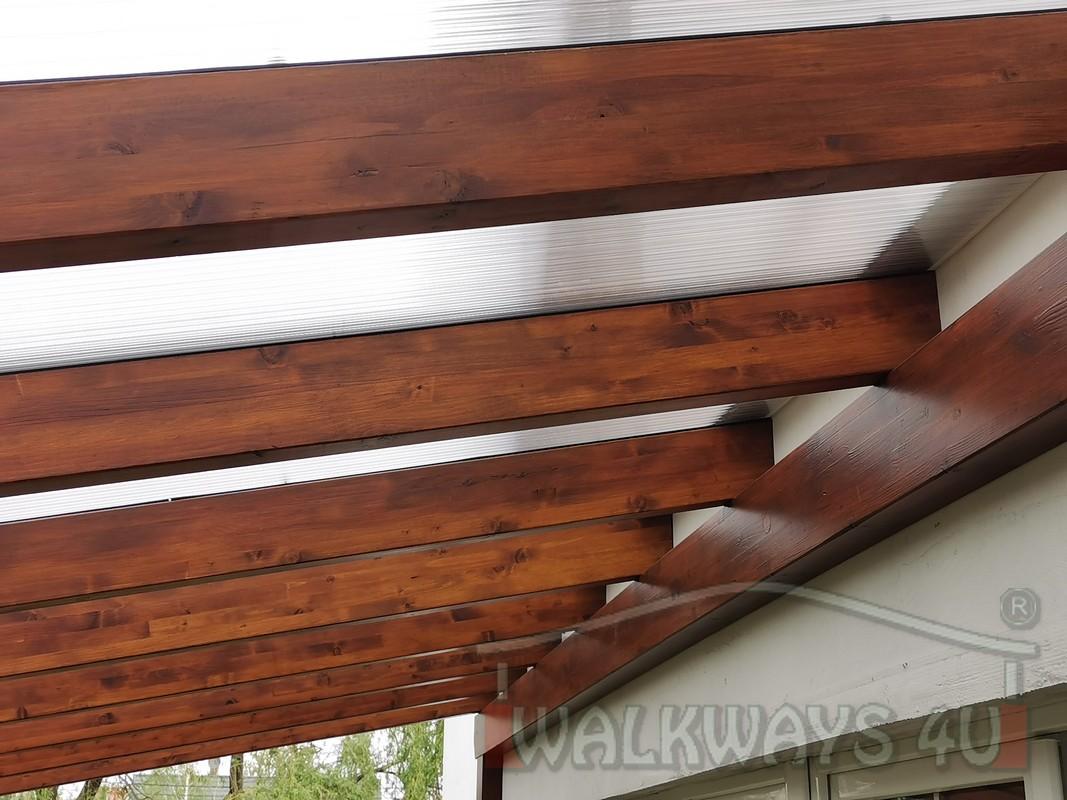 Photo 16. Zadaszenia taras?w, werandy drewniane, konstrukcje z drewna klejonego, drewniane tarasy pergole, wiaty