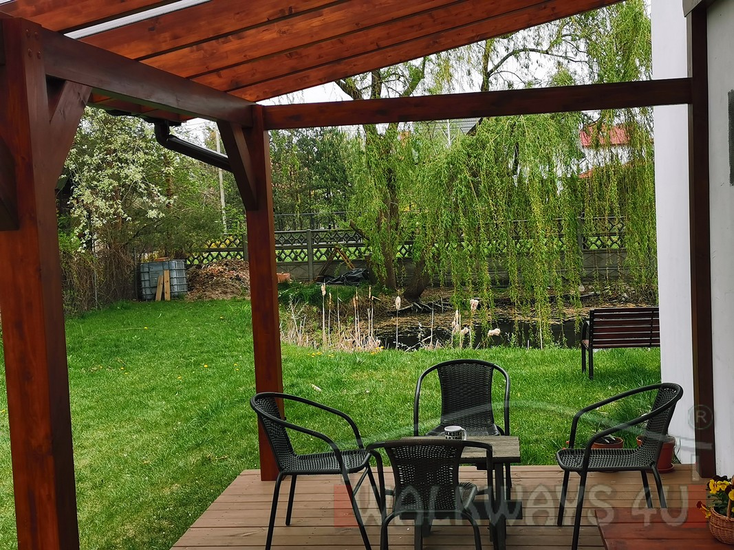 Photo 15. Zadaszenia taras?w, werandy drewniane, konstrukcje z drewna klejonego, drewniane tarasy pergole, wiaty