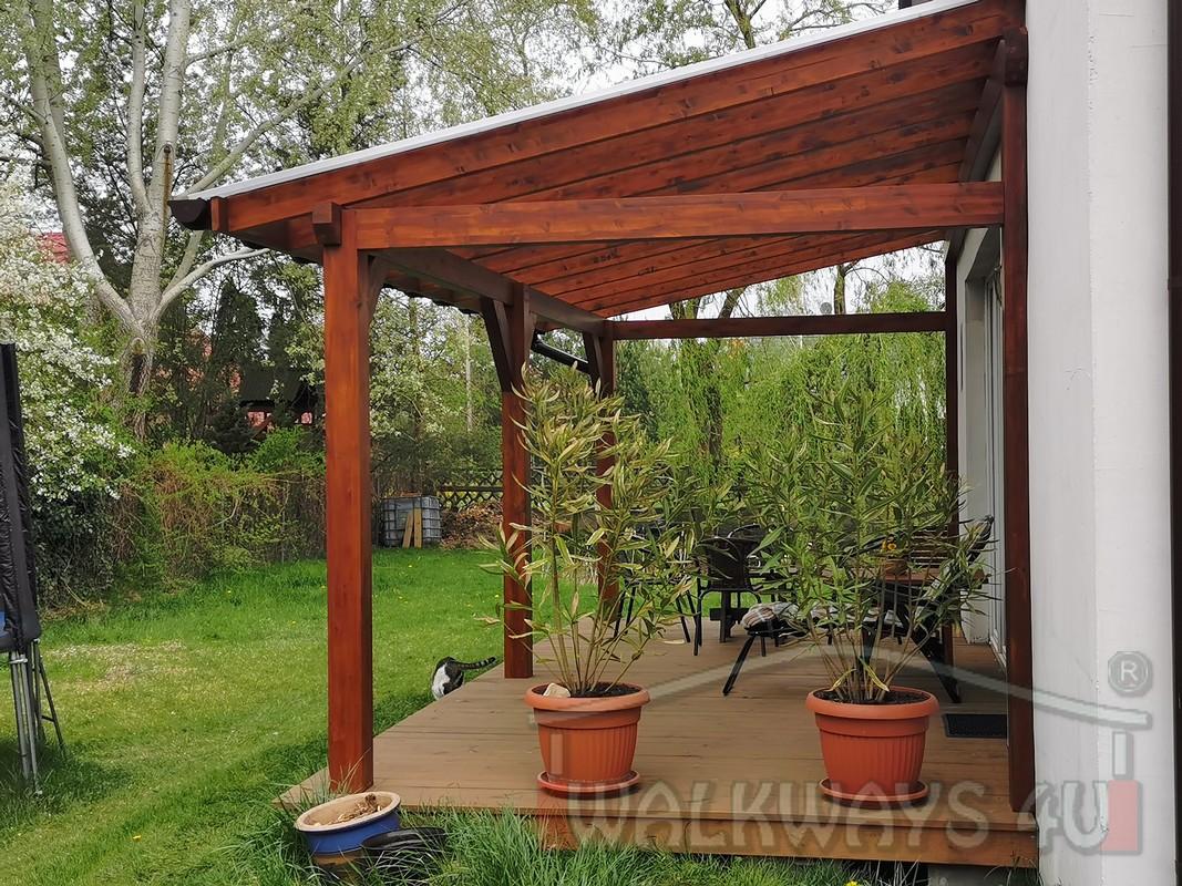 Photo 14. Zadaszenia taras?w, werandy drewniane, konstrukcje z drewna klejonego, drewniane tarasy pergole, wiaty