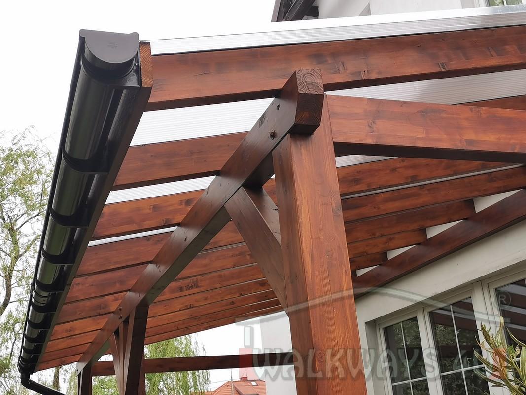 Photo 12. Zadaszenia taras?w, werandy drewniane, konstrukcje z drewna klejonego, drewniane tarasy pergole, wiaty