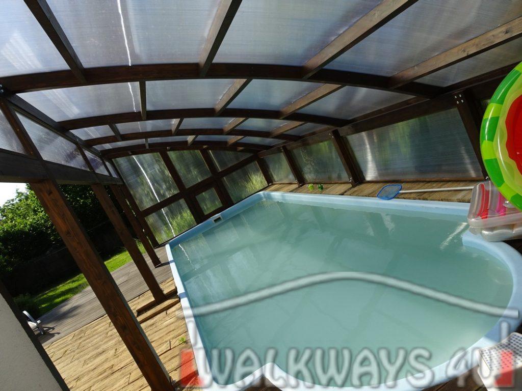 Photo 8. Szklana zabudowa basenu drewniane zadaszenia taras?w i oran?erii