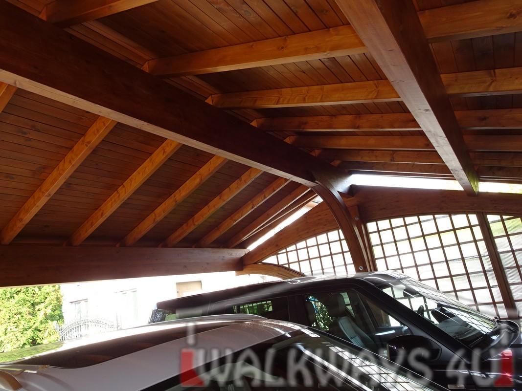 Wiata na 3 samochody drewniana drewno klejone wysoka jako?? estetyka i impregnacja. WALKWAYS4U