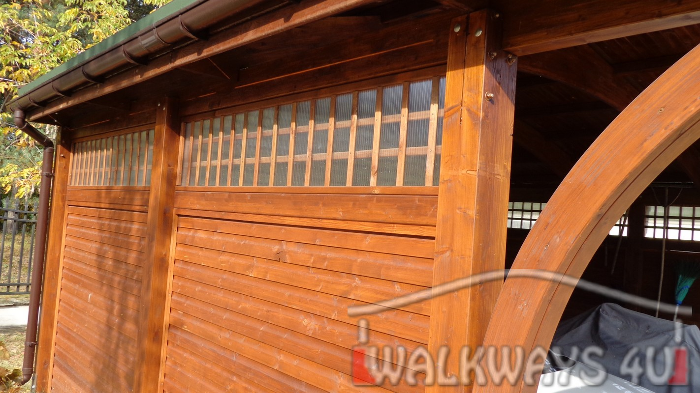 Zdjęcie nr 1 . Drewniane wiaty garażowe, carporty z drewna, garaż drewniany z drewna klejonego, wiata garażowa na samochód