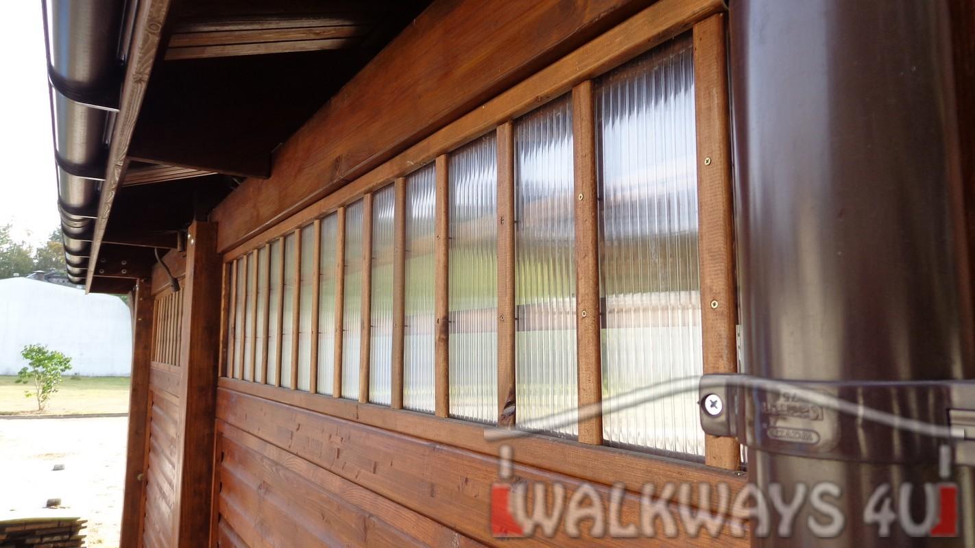 Zdjęcie nr  4. Drewniane wiaty garażowe, carporty z drewna, garaż drewniany z drewna klejonego, wiata garażowa na samochód