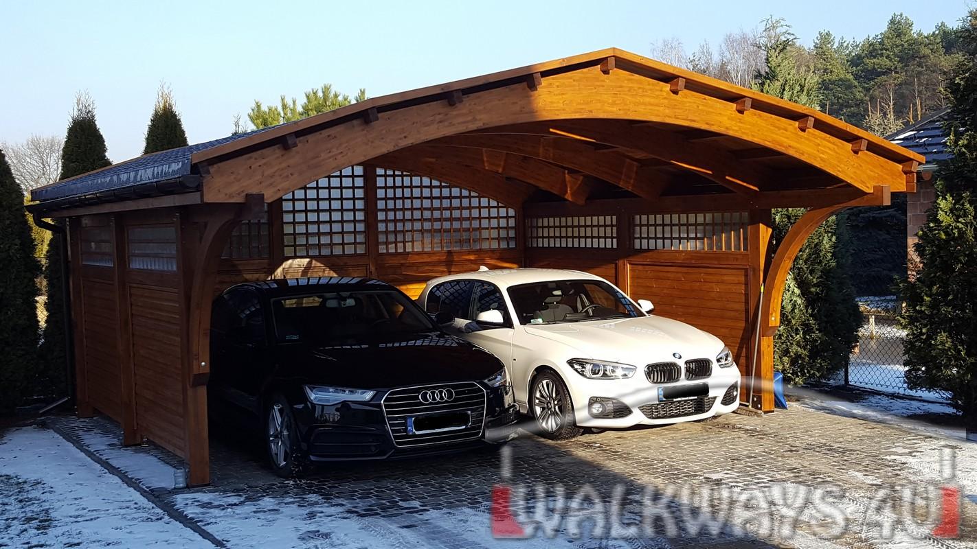 Obraz nr  . Garaże z drewna, carporty drewniane, wiaty samochodowe z drewna klejonego impregnowane zabudowane