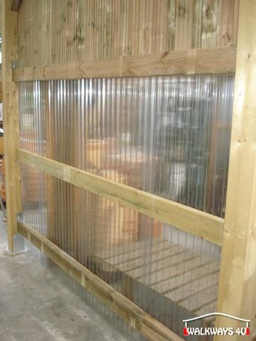 Image No 22.  Passages couverts, espaces commercial couvert, constructions en bois lamelle - colle, toitures, fermetures en bois