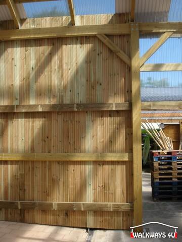 Image No  21.  Passages couverts, espaces commercial couvert, constructions en bois lamelle - colle, toitures, fermetures en bois