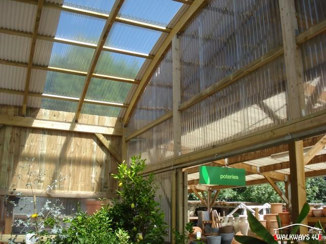 Image No 05 .  Passages couverts, espaces commercial couvert, constructions en bois lamelle - colle, toitures, fermetures en bois